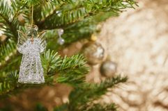 Closeup on Christmas tree decoration Royalty Free Stock Images