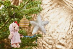 Closeup on Christmas tree decoration Stock Photography