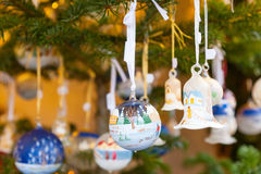 Closeup on Christmas tree decoration Royalty Free Stock Photo