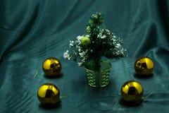 Closeup of Christmas-tree decorations Stock Photos