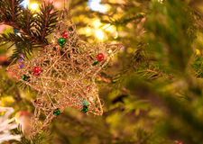 Closeup of Christmas-tree decorations Royalty Free Stock Photo