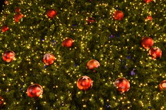 Closeup Christmas-tree decorations Royalty Free Stock Photo