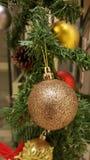 Closeup of Christmas tree decorations Stock Image