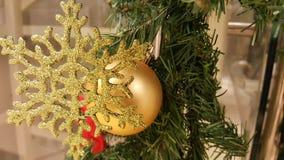 Closeup of Christmas tree decorations Royalty Free Stock Image