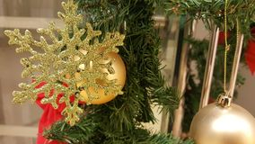 Closeup of Christmas tree decorations Royalty Free Stock Photography