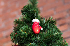 Closeup of Christmas-tree decorations. Stock Photography