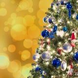 Closeup of Christmas-tree decorations Royalty Free Stock Photo