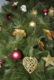 Closeup of Christmas-tree decorations Stock Photo