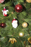 Closeup of Christmas-tree decorations Stock Image