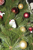 Closeup of Christmas-tree decorations Royalty Free Stock Photos