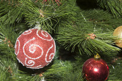 Closeup of Christmas-tree decorations Stock Photography