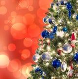 Closeup of Christmas-tree decorations Stock Photography