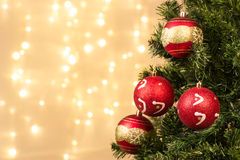 Closeup of Christmas-tree decorations Royalty Free Stock Photography