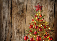 Closeup of Christmas tree Royalty Free Stock Image