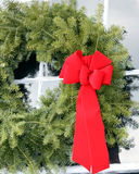 Closeup Christmas wreath Stock Photography