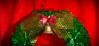 Closeup Christmas wreath Royalty Free Stock Photography