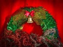 Closeup Christmas wreath Stock Photography