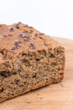 Closeup chrono bread over white background.  Stock Photos