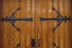 Closeup of church doors, Enkhuizen, The Netherlands. A closeup of the decorated doors of a church in Enkhuizen, The Netherlands. These doors really show some Royalty Free Stock Photography