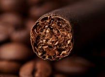 Closeup of cigar Royalty Free Stock Photo