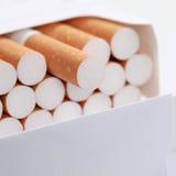 Closeup of cigarettes royalty free stock photos