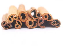 Closeup of cinnamon sticks Stock Photo