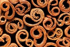 Closeup of cinnamon sticks Royalty Free Stock Photography
