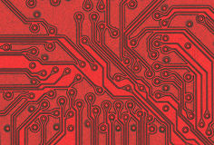 Closeup of a circuit board Stock Photo