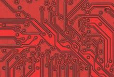 Closeup of a circuit board. Closeup view of a circuit board Stock Photo