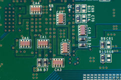 Closeup of circuit board Stock Images