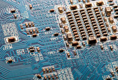 Closeup of circuit board Royalty Free Stock Photography