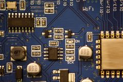 A closeup of a circuit board. royalty free stock photos