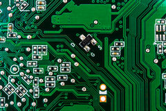 Closeup of circuit board Royalty Free Stock Photos