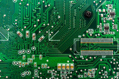 Closeup of circuit board Stock Image