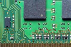 Computer hardware, circuit board. Stock Photo