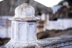 Closeup of a circular pillar Royalty Free Stock Images
