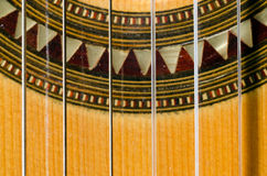 Closeup of a Classical Guitar Stock Photos