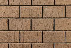 Closeup of clay bricks wall Stock Photos