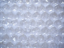 Closeup of clear bubble wrap. Clear bubble wrap edge-to-edge. Clearly shows texture Royalty Free Stock Photography