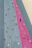 Closeup of a climbing wall.  stock photos
