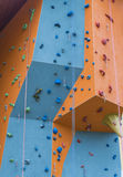 Closeup of a climbing wall.  stock image