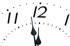 Closeup of clock face. Royalty Free Stock Photo