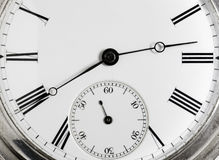Closeup clock face  Royalty Free Stock Image