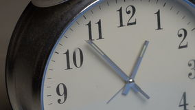 Closeup clock face stock footage