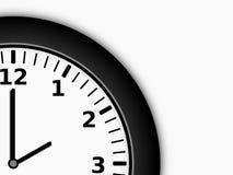 Closeup of a Clock Face Royalty Free Stock Photography