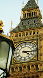 Closeup of the clock. The Clock Tower of Big Ben in London Stock Image