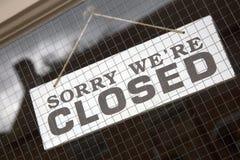 Closeup Closed Sign Stock Photos