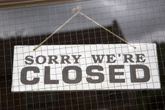 Closeup of Closed Sign Royalty Free Stock Photography