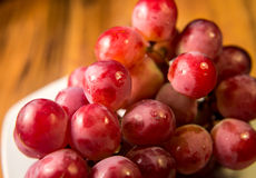 Closeup Cluster of Red Grapes Stock Photos