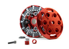 Closeup Clutch parts disassembled Stock Photos